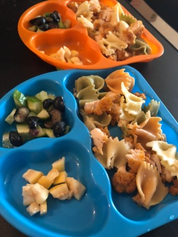 Mexican Guava + Cucumber & Blueberry + Chicken and Pasta